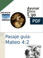 Habito de Jesús No. 30 Ayunar