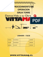 Procedimiento de Operación LIEBHERR 71ECB -