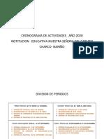 CRONOGRAMA DE ACTIVIDADES   AÑO 2020  PERIODOS