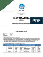 Silabus Matematika Kelas 5 Sem 1