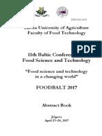 FoodBalt 2017 Abstract Book