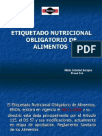 Etiquetado Nutricional Obligatorio de Alimentos.Prinal