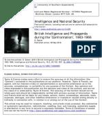 British Intelligence and Propaganda Konfrontasi