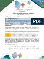 Guía de actividades y rúbrica de evaluación - Reto 1 - Hábitos de estudio
