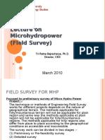 Microhydro-Field Survey