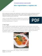 Dicas de restaurantes vegetarianos em Curitiba