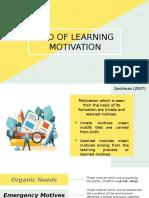 PPT learning motivation