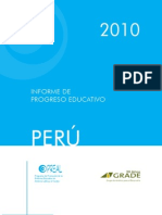 Informe de progreso educativo Perú 2010