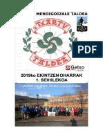 Itxartu Mendigoizale 2019ko EKINTZEN OHARRAK (1)