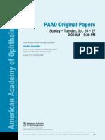 2009 Final Program PAAO Papers