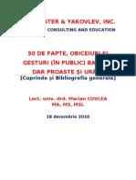 50 DE GESTURI BANALE DAR URÂTE