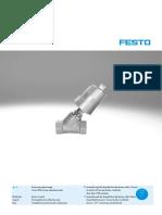 Angle seat valve fest data sheet