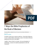 7 Ways the Bible Prophesies of the Book of Mormon