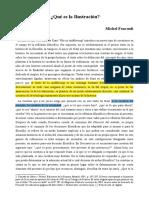 Foucault ¿Qué es la Ilustracion?