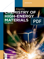 Klapötke Thomas Matthias - Chemistry of high-energy materials