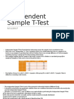 Independent and paired Sample T-Test 2