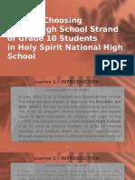 Basis Of Choosing SHS Strand Group 1 - Bello.pptx