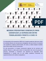 8454n Medidas Preventivas Generales Garantizar Separacio769n Entre Trabajadores Frente a Covid 19