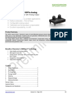 Preliminary Datasheet SDP3x-Analog