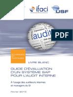 Livre blanc AFAI_ IFACI_ USF _Guide d'évaluation d'un système SAP pour l'audit interne