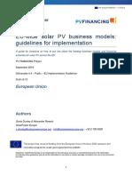 EU Solar PV Business Models
