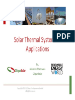 Solar Thermal Systems & Applications