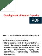 Development of Human Capacity