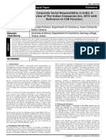 Corporate Social Responsibility in India A Review of The Indian Companies Actt 2013 with Reference to Csr Provision..pdf