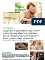 Week 15 - HEALTH AND WELLNESS PROGRAM FOR SENIOR CITIZEN