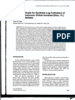 A Practical Guide for Sythetic-Log Cultivation Od Medicinal Mushroom Grifola Frondosa