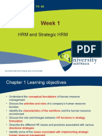 Week 1 Lecture  HRM and STrategic HRM