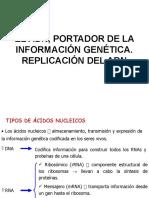 EL ADN, PORTADOR DE LA INFORMACIÓN GENÉTICA