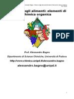 Chimica degli alimenti - Elementi di chimica organica - A. Bagno