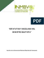 estatutos ministro bautista
