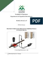 FICHA 2 - TRANSDUTORES ELÉCTRICOS DE TEMPERATURA E FOTOELÉTRICOS