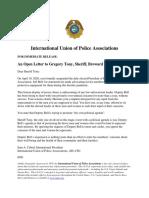 IUPA letter to Broward County Sheriff Gregory Tony