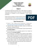 Guía 3, grado 11
