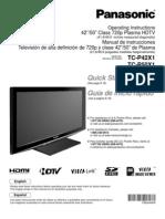 Panasonic TCP42X1 Manual