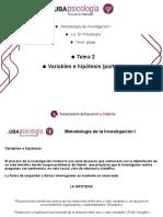 variables e hipótesis parte 1