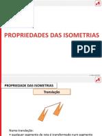 Propriedades das isometrias