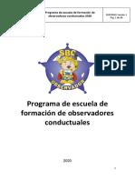 ESCUELA DE FORMACIÓN OBSERVADOR PARA OBSERVADORES CONDUCTUALES