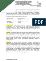 tabla de formulaciones preliminares