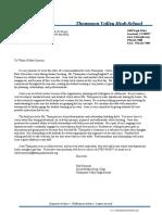 letter from robert porzycki