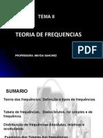 TEMA II  TEORIA DAS FREQUENCIAS VERSION 1
