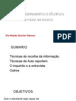 TEMA VII METODOS RECOLHA INFORMAÇAO