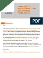 A aplicação de met ativas com recursos tecnologicos