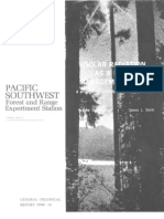 Solar radiation as a forest management tool