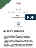 La planification d'un cours de FLE2