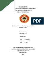 RPP IPA Organ Tubuh Manusia dan Hewan Kelas V Semester I