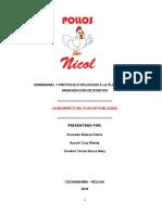 plan de eventos de Pollos Nicol